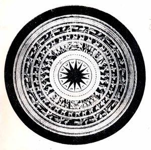 Hoa văn trên mặt trống đồng Ngọc Lũ